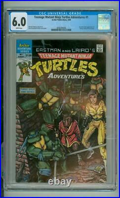 Teenage Mutant Ninja Turtles Adventures #1 CGC 6.0 1st Comic Book App Of Krang