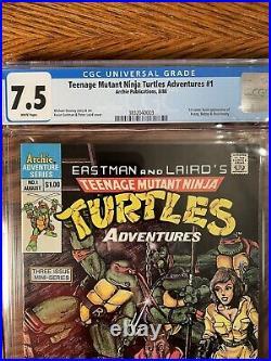 Teenage Mutant Ninja Turtles Adventures #1 CGC 7.5 1988 Bebop & Rocksteady