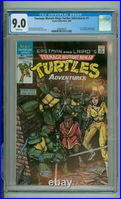 Teenage Mutant Ninja Turtles Adventures #1 CGC 9.0 1st Comic Book App Of Krang