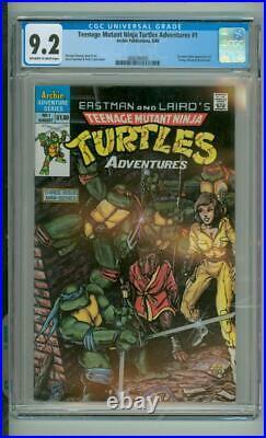 Teenage Mutant Ninja Turtles Adventures #1 CGC 9.2 1st Comic Book App Of Krang