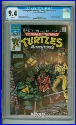Teenage Mutant Ninja Turtles Adventures #1 CGC 9.4 1st Comic Book App Of Krang
