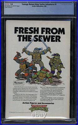 Teenage Mutant Ninja Turtles Adventures #1 CGC 9.4 OWithW Pages Archie Comics