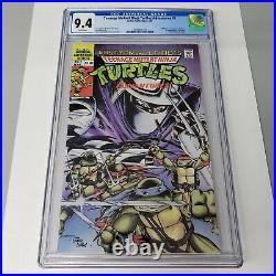 Teenage Mutant Ninja Turtles Adventures #1 CGC 9.4 White Pages Archie Comic 1989