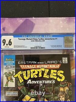 Teenage Mutant Ninja Turtles Adventures #1 CGC 9.6 1988