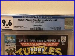 Teenage Mutant Ninja Turtles Adventures 1 CGC 9.6 Newsstand CPV Canadian Variant