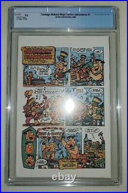 Teenage Mutant Ninja Turtles Adventures #1 CGC 9.6 White Pages 1988