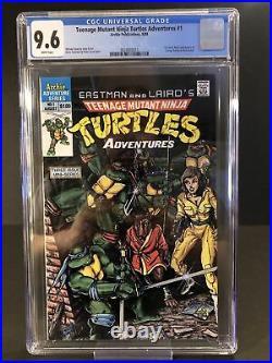 Teenage Mutant Ninja Turtles Adventures #1 CGC 9.6 White Pages (RC)
