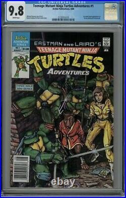 Teenage Mutant Ninja Turtles Adventures #1 CGC 9.8 1988 Mini-Series HTF Newstand
