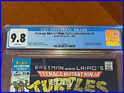 Teenage Mutant Ninja Turtles Adventures #1 CGC 9.8 1st Krang, Bebop, Rocksteady