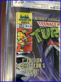 Teenage Mutant Ninja Turtles Adventures #1 CGC 9.8 CDN Variant Low POP