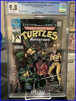 Teenage Mutant Ninja Turtles Adventures 1 CGC 9.8 First Krang/Bebop/Rocksteady