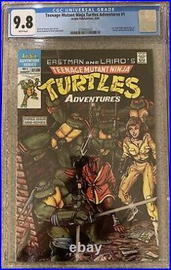 Teenage Mutant Ninja Turtles Adventures #1. CGC 9.8 NM+. 1st bebop, krang