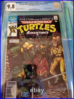 Teenage Mutant Ninja Turtles Adventures #1 CGC 9.8 NM/M 1988 Newsstand