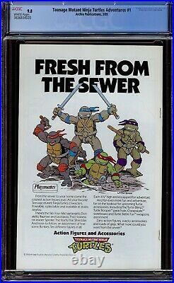 Teenage Mutant Ninja Turtles Adventures #1 CGC 9.8 NM/M. 1989 Regular Series