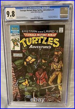 Teenage Mutant Ninja Turtles Adventures 1 CGC 9.8 NM+/M 1st Krang Bebop KEY 1988