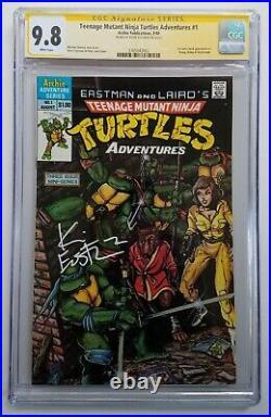 Teenage Mutant Ninja Turtles Adventures #1 CGC 9.8 SS Signed Eastman MEGA KEY