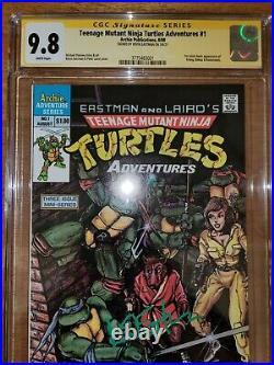 Teenage Mutant Ninja Turtles Adventures #1 CGC 9.8 SS signed Eastman TMNT