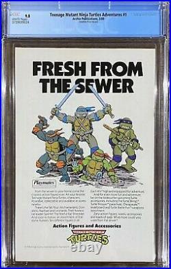 Teenage Mutant Ninja Turtles Adventures #1 CGC 9.8 Scarce $1.25 Canadian Variant