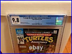 Teenage Mutant Ninja Turtles Adventures # 1 CGC 9.8 TMNT White Pages