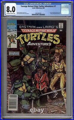 Teenage Mutant Ninja Turtles Adventures 1 CGC Graded 8.0 VF News Archie 1988