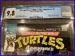 Teenage Mutant Ninja Turtles Adventures #1 Cgc 9.8 1st Krang Bebop Rocksteady