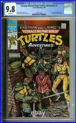 Teenage Mutant Ninja Turtles Adventures #1 Cgc 9.8 White Pages // Kevin Eastman