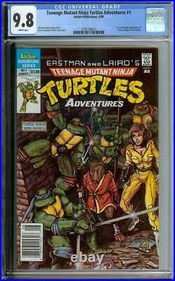 Teenage Mutant Ninja Turtles Adventures #1 Cgc 9.8 White Pages // Rare Newsstand
