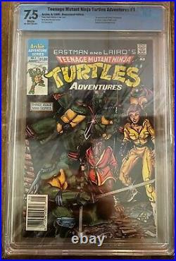 Teenage Mutant Ninja Turtles Adventures #1 NOT CGC CBCS 7.5 Newsstand MOVIE SOON