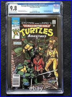 Teenage Mutant Ninja Turtles Adventures # 1 Newsstand CGC 9.8 Rare TMNT 1988