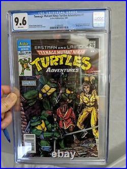Teenage Mutant Ninja Turtles Adventures #1 Newsstand cgc 9.6 Copper Age key