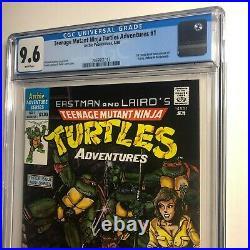 Teenage Mutant Ninja Turtles Adventures 1 Newsstand cgc 9.6 Unpressed White Page