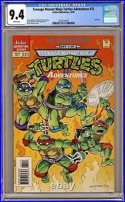 Teenage Mutant Ninja Turtles Adventures #72 CGC 9.4 1995 3763773017