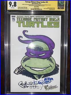 Teenage Mutant Ninja Turtles CGC Peter Laird Sketch RARE Kevin Eastman Signed
