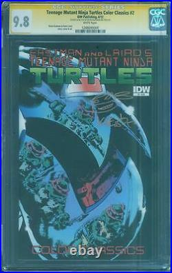 Teenage Mutant Ninja Turtles Color Classics 2 CGC SS 9.8 Eastman Gold ink Sketch