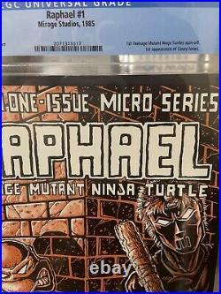Teenage Mutant Ninja Turtles Raphael 1 CGC 8.5 First Casey Jones! First Print
