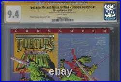 Teenage Mutant Ninja Turtles Savage Dragon #1 CGC 9.4 Signed KEVIN EASTMAN