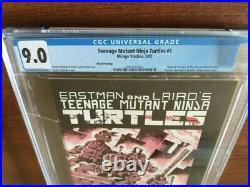 Teenage Mutant Ninja Turtles TMNT #1 3rd Printing CGC 9.0