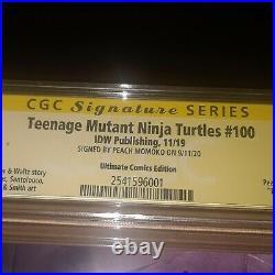 Teenage Mutants Ninja Turtles #100 IDW CGC SS 9.8 SIGNED Peach Momoko Variant