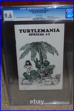 Turtlemania Special #1 CGC 9.6 TMNT 1986 Teenage Mutant Ninja Turtles B7 151 cm