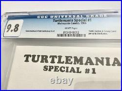 Turtlemania Special #1 CGC 9.8 1986 TMNT Ninja Turtles